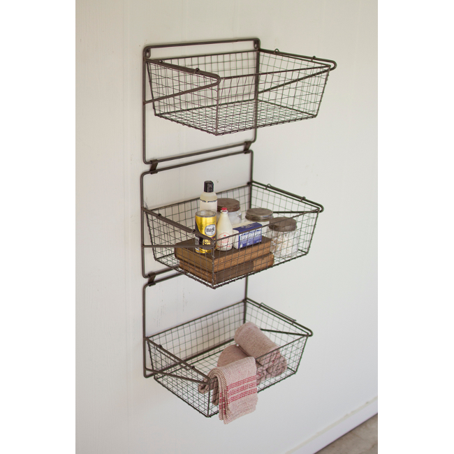 Three Tiered Wall Storage Baskets