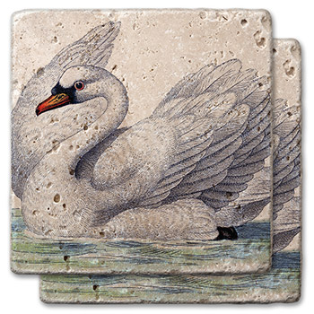 Peaceful Swan Stone Coasters