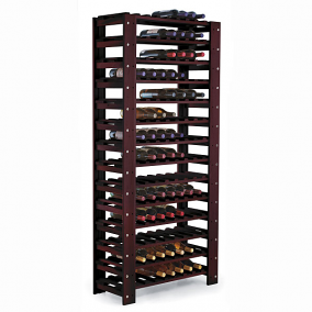 Swedish Pine 126 Bottle Wine Rack (Mahogany)