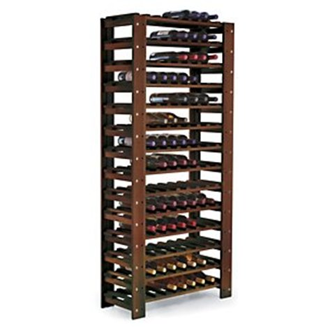 Swedish 126 Bottle Wine Rack (Dark Walnut)