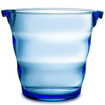 Swirl Acrylic Ice Bucket - Blue