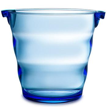 Swirl Acrylic Ice Bucket - Blue