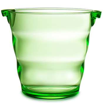 Swirl Acrylic Ice Bucket- Green