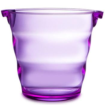 Swirl Acrylic Ice Bucket - Purple