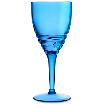 Swirl Acrylic Wine Glasses - Blue