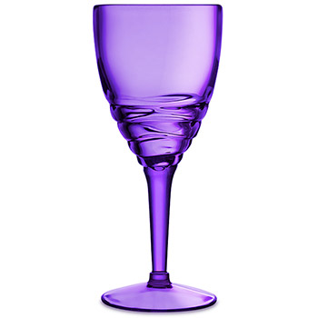 Purple Swirl Acrylic Wine Glasses (set of 6)