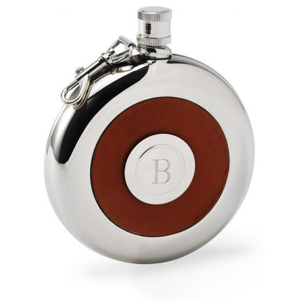 Personalized Oxford Flask with Shot Glass