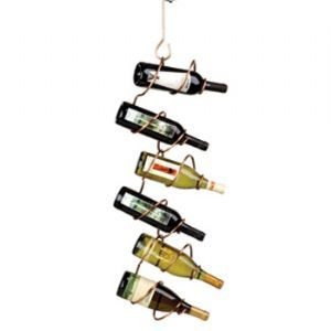 Climbing Tendril Hanging Wine Rack, Copper