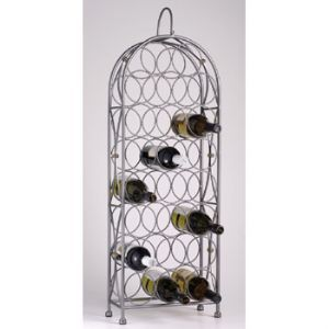 Bordeaux Chateau 23 Bottle Wrought Iron Wine Rack