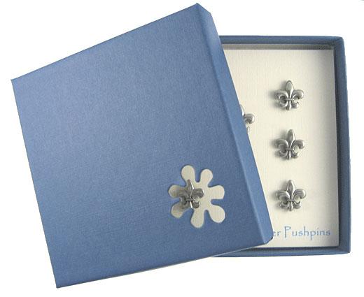 Fleur de Lis Pewter Pushpins