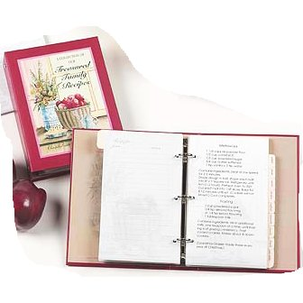 Treasured Family Recipes Journal Refill