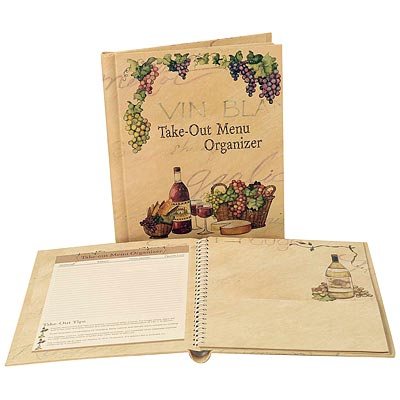 Wine & Dine Menu Organizer for Takeout Menus