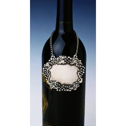Pewter Wine Bottle Tag Or Decanter Placard