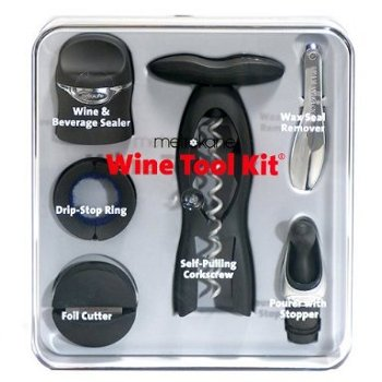 Metrokane 6-Piece Deluxe Wine Tool Kit