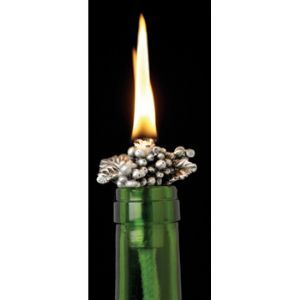 Bunch of Grapes Wine Bottle Candle Wick