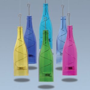 Wine Bottle Tea Lights (set of 3)