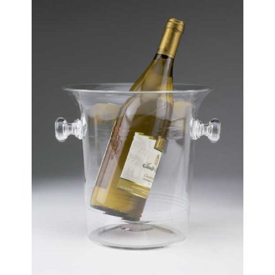 Vino Bottle Cooler, Clear Acrylic
