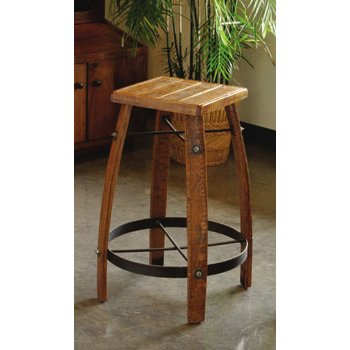 2 Day Designs 24 Inch Stave Stool with Wood Top