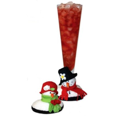 Snowies Snow Couple Stemware Coasters (set of 2)