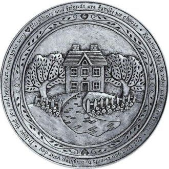 Statesmetal House Friendship Plate