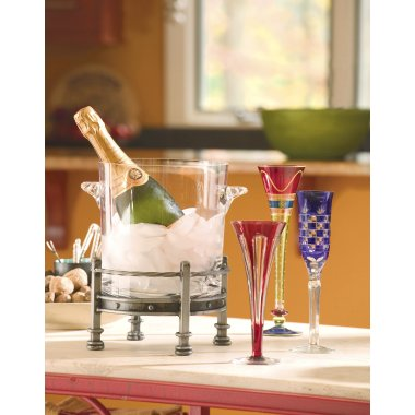 Table Top Wine Chiller with Glass Insert