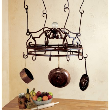 Scrolled Round Pot Rack