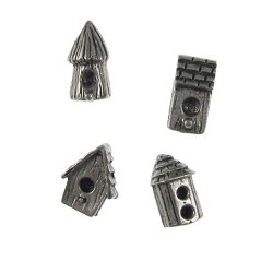 Birdhouse Pewter Pushpins