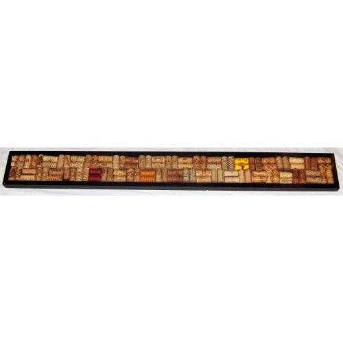 Wine Cork Board Strip 42 x 4.5, Black