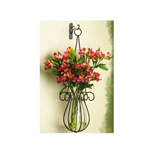 Hanging Basket and Glass Vase