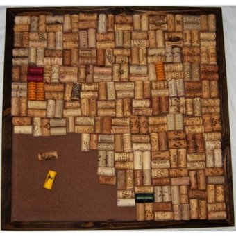 Walnut Flange Frame Wine Cork Bulletin Board