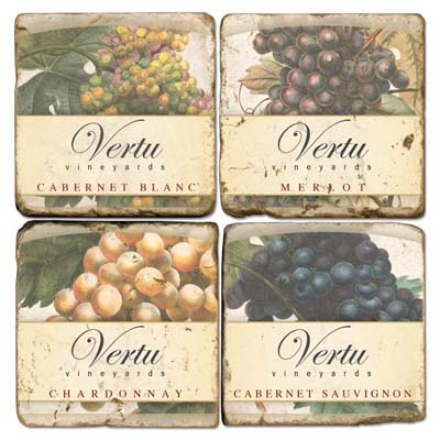 Personalized Vineyard Marble Coasters (set of 4)