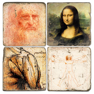 Da Vinci Marble Coasters