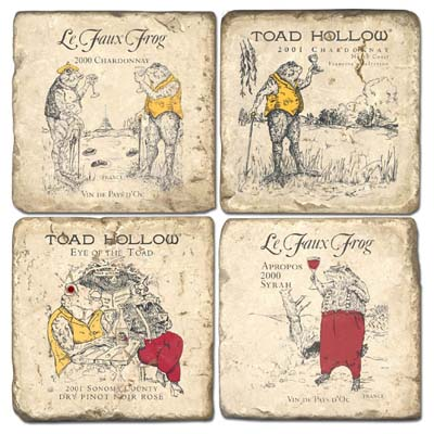 Toad Hollow Wine Coasters