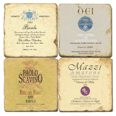 Italian Wine Labels II Coasters