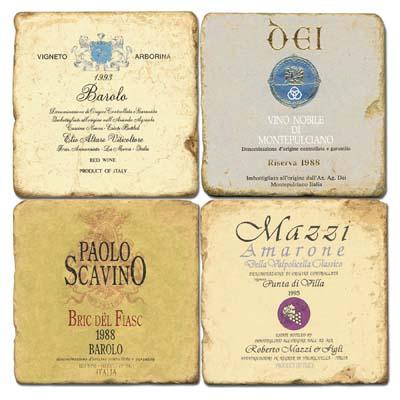 Italian Wine Labels II Coasters