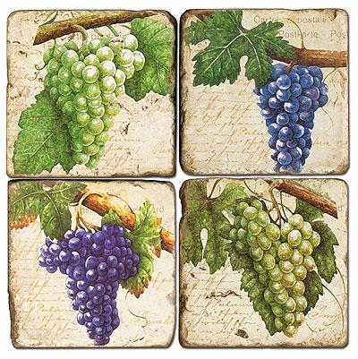 Grapes Italian Marble Coasters