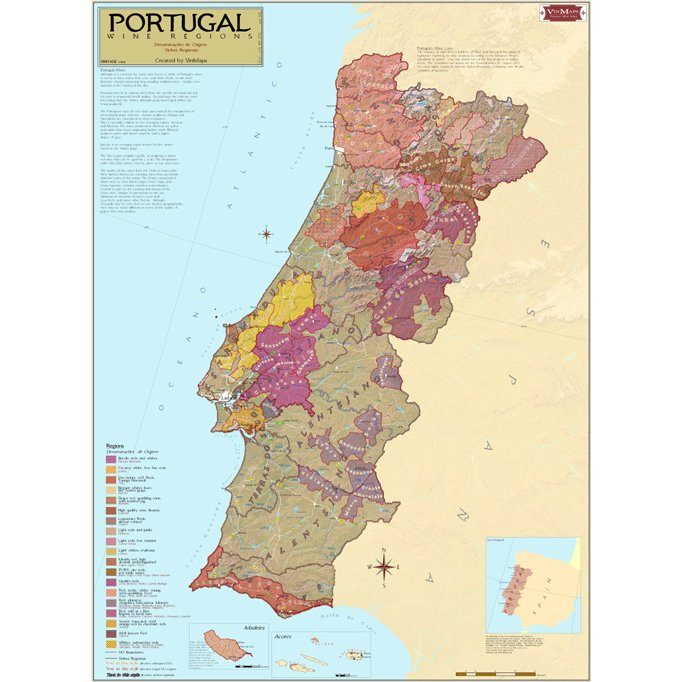 Wine Regions of Portugal Wine Map