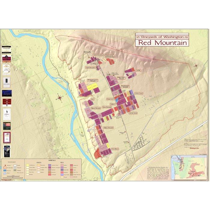 Vineyards of Washington: Red Mountain Wine Map