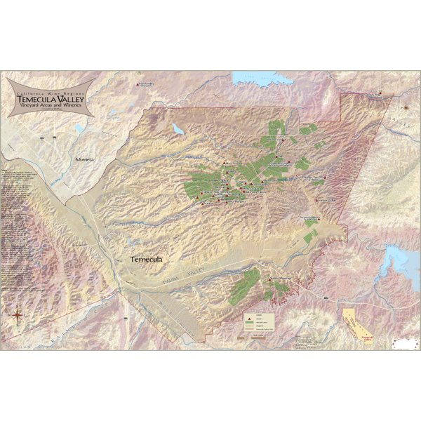 Temecula Valley Wine Map
