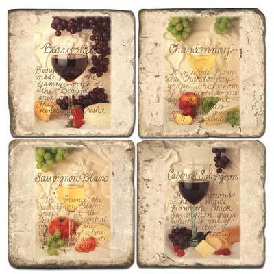 Wine Marble Coasters