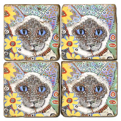 Siamese Marble Coasters