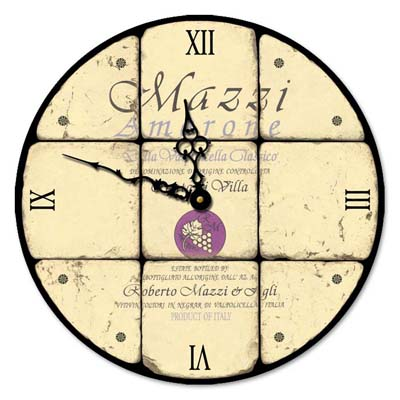 Mazzi Amarone Glass Clock