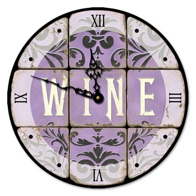 Wine Wall Art Clock