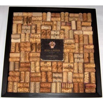 Italian I Wine Marble Tile Wine Cork Bulletin Board