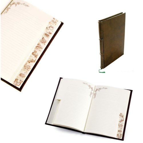 Handmade Italian Leather Recipe Book