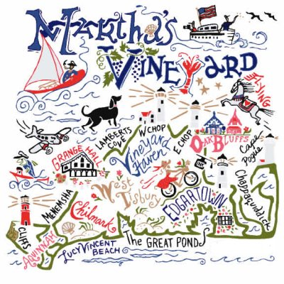 Martha's Vineyard Dish Towel