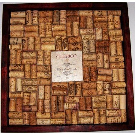 Italian II Wine Marble Tile Wine Cork Bulletin Board