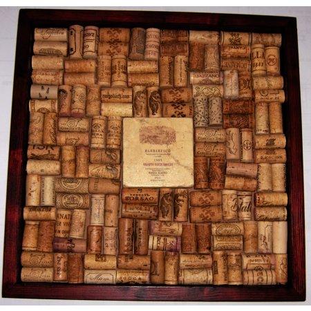 Italian III Wine Marble Tile Wine Cork Bulletin Board