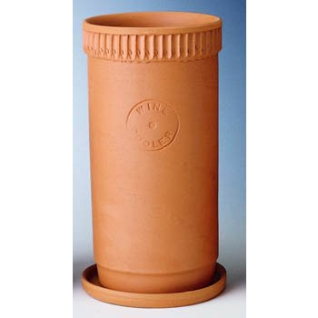 Tall Tuscan Terra Cotta Wine Bottle Cooler