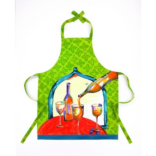 White Wine Kitchen Apron By Julia Junkin